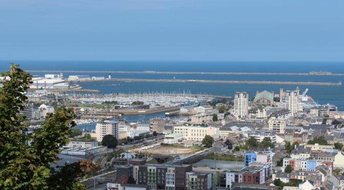 Der grosse Hafen von Cherbourg.