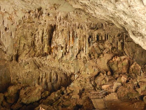 Der Eingangsbereich zu den Jenolan Caves.