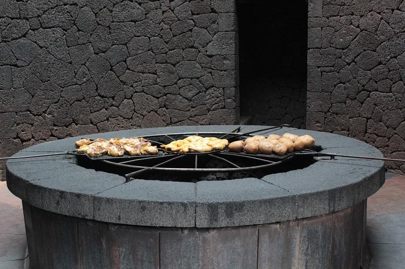Der Grill im Restaurant El Diavolo.